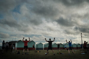 Kettlebell Fitness Classes outdoors