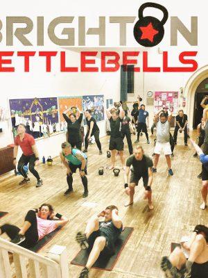 Indoor Kettlebell fitness class